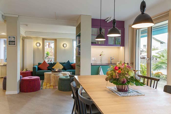 Communal Kitchen, Lounge & Library